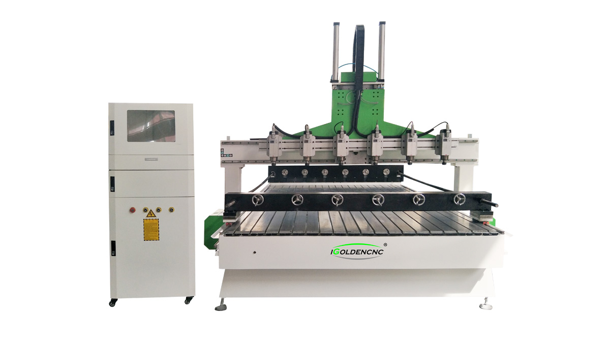 Router di cnc multi -head Plane / Stereo 4 Axis